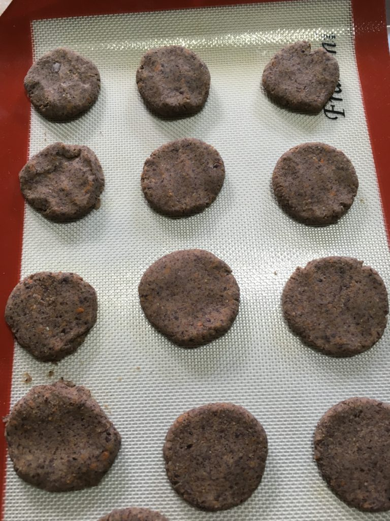 uncooked black bean nuggets