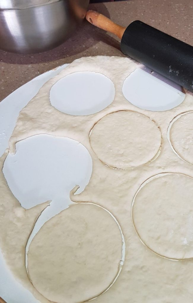 pizza dough circles